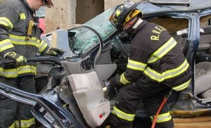 Extrication in action.
