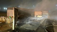Calif. FFs save man locked inside burning dumpster enclosure