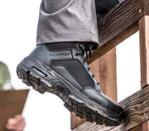 The new Duralight Tactical Boot from Propper provides comfort, traction and solid support in critical areas. The boot available in sizes 5 to 17, including half sizes and wide widths.