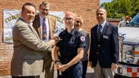 Pa. EMT receives valor award for pulling man from truck fire