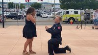 Photo of the Week: Va. firefighter-EMT proposes at graduation