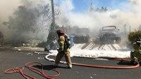 Calif. FF burned fighting multi-house blaze