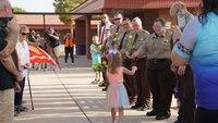 Deputies escort fallen officer's daughter to first day of kindergarten