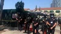 LAPD arrests dozens in dueling protests over transgender rights