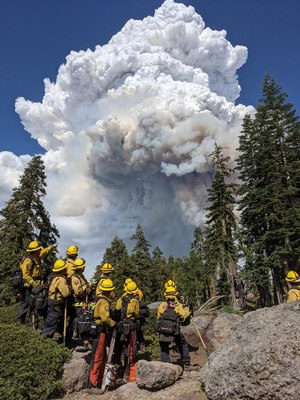 CAL FIRE Santa Clara Unit Strike Team 9163G is engaged on Division Q of the Dixie Fire.