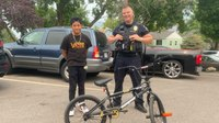 Utah police officer replaces boy's stolen bike on his own dime