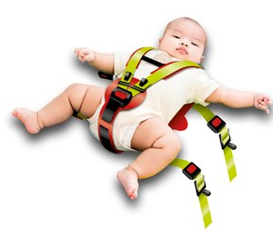 Securing a pediatric patient to your standard EMS cot/stretcher using restraints specially designed for children may be your best option. (image/Bound Tree)