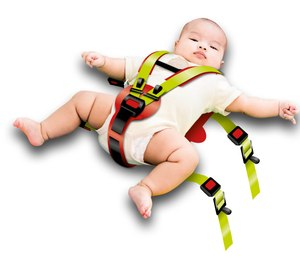 Securing a pediatric patient to your standard EMS cot/stretcher using restraints specially designed for children may be your best option.