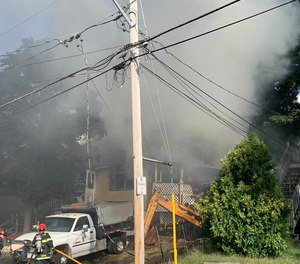 Fire officials said the building is a total loss.