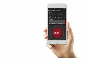 The EMS alert function on Pulsara's mobile platform. (Photo Courtesy of Pulsara)