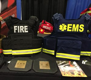 EMS ballistic vests are designed to trap the kinetic energy of a projectile and spread the energy over a larger surface area.