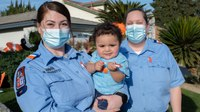 Hall Ambulance crew reunites with safe surrender baby