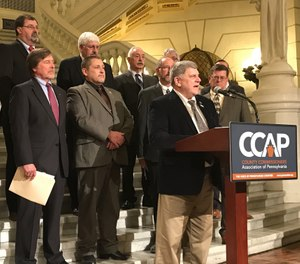 The County Commissioners Association of Pennsylvania (CCAP) announced its legislative priorities for the 2020-2021 fiscal year at a news conference Tuesday. The top two items on the list were mental health funding and support for emergency medical services. (Photo/CCAP Twitter)