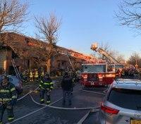 10 FDNY firefighters injured in multi-building 5-alarm blaze