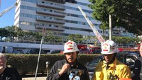 8 hurt, 1 critically, in fire at LA high-rise