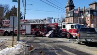 8 firefighters injured in double apparatus crash with pickup