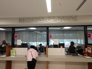 Residents must physically go to the Register of Deeds office for some services that remain available, such as birth and death certificates and passport processing. Image: Twitter