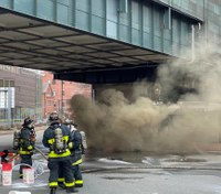 Video: Boston FFs battle flames after manhole explosions