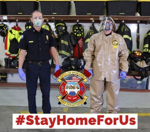 There are no stay home orders for your local fire department. Your firefighters always respond when called. Please do your part to help them return safely to their families.