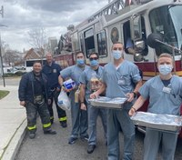 Photo of the Week: FDNY shows gratitude for Air Force medical personnel