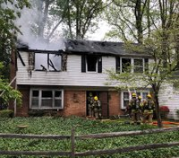 2 Md. firefighters burned in house fire