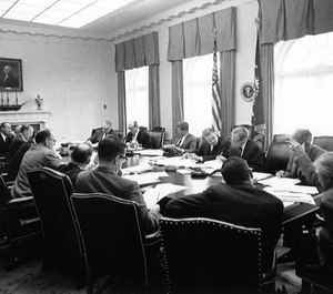 Few examples of exemplary crisis leadership can outshine that of John F. Kennedy's leadership team during the Cuban Missile Crisis. (Photo/Wikimedia Commons)