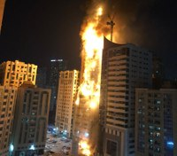Massive fire burns residential tower in United Arab Emirates