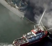 Fire operations to save SS Jeremiah O'Brien at massive Pier 45 fire in San Francisco
