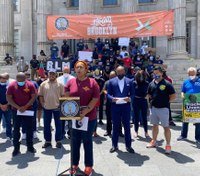 FDNY members show support for George Floyd, Black Lives Matter protesters