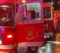 Firefighters attacked, apparatus damaged during civil unrest