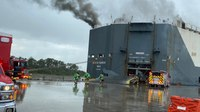 Fla. firefighters recovering after cargo ship explosion