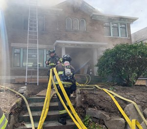 The key with selecting the correct size line is quite simply getting the right amount of water on the fire. (Photo/Seattle FD Twitter)