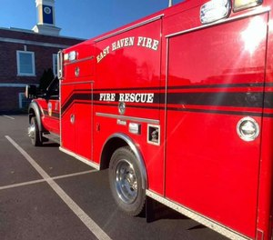 The East Haven Fire Department responded to calls of a large structure fire at an apartment complex.