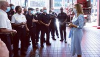 First Lady makes unannounced visit to DC Fire & EMS Station 9