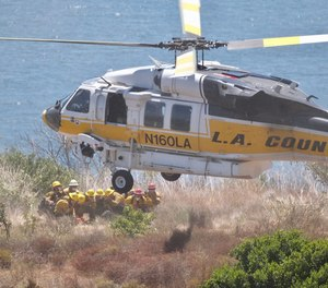 With the increase in wildland fires and the urban interface program allowing structural firefighters greater input into the campaign, fire department personnel can expect to be tasked with providing temporary landing sites.