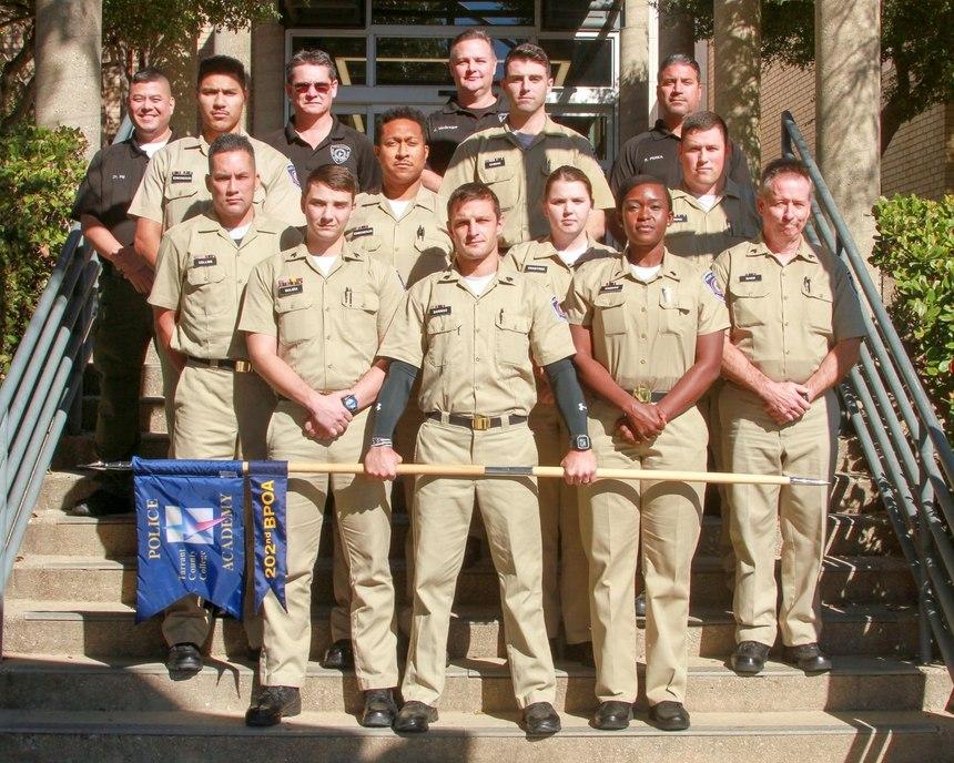 Winston and Christian Edmondson's police academy class.