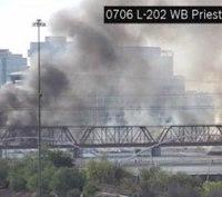 Fire erupts after Ariz. train derailment, bridge collapse
