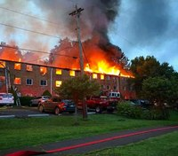 3 Pa. FFs injured battling massive blaze at apartment complex