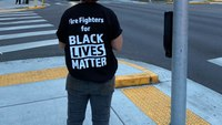 Firefighters hold Black Lives Matter rally in Portland