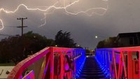 Photo of the Week: Lightning over the ladder truck