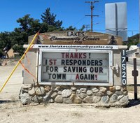 Photo of the Week: Calif. community expresses gratitude to wildfire responders