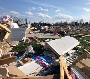 After getting his bearings, Darrell Jennings walked out his front door to see what kind of damage the tornado left behind. He wasn't prepared for what he saw next.