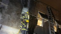 Philadelphia FF burned fighting rowhome blaze