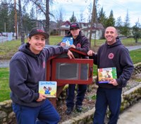 Photo of the Week: Calif. firefighters construct 'Little Free Library'