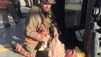 Cincinnati FFs rescue woman trapped in crash, make sure her groceries get home