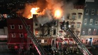 2 FDNY FFs injured at 5-alarm apartment building blaze