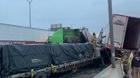 调度音频:133辆车连环相撞后,德州急救人员被冰块阻碍