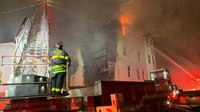 Mass. FF injured when window explodes at fire
