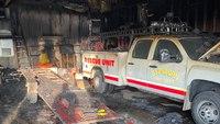 ND volunteer fire station, 7 vehicles destroyed in blaze