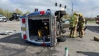 5 injured in Va. ambulance crash